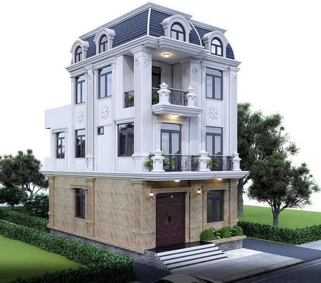 Mẫu biệt thự tân cổ điển 3 tầng 1 – biệt thự nhà phố đẹp