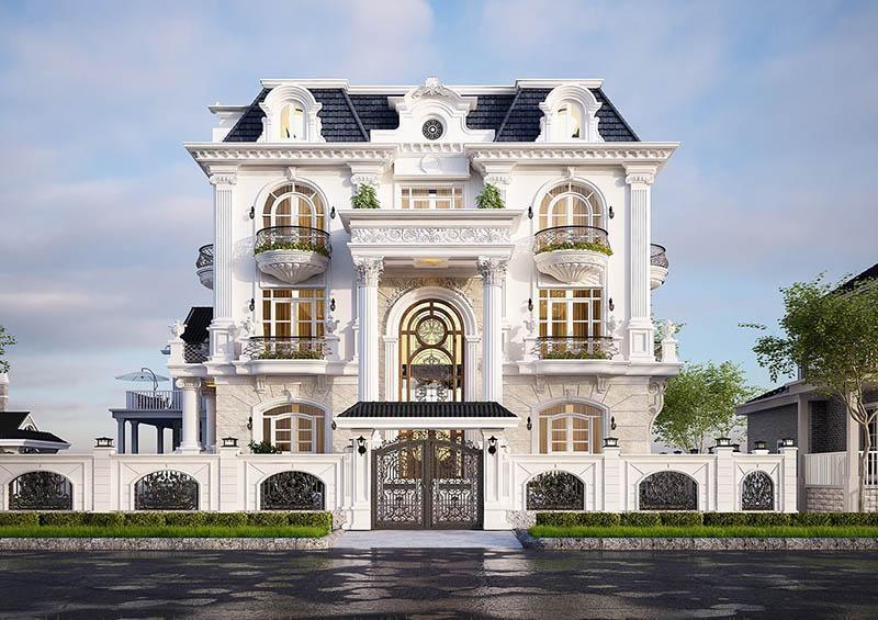 Mẫu biệt thự tân cổ điển 3 tầng đẹp 5 – Biệt thự song lập