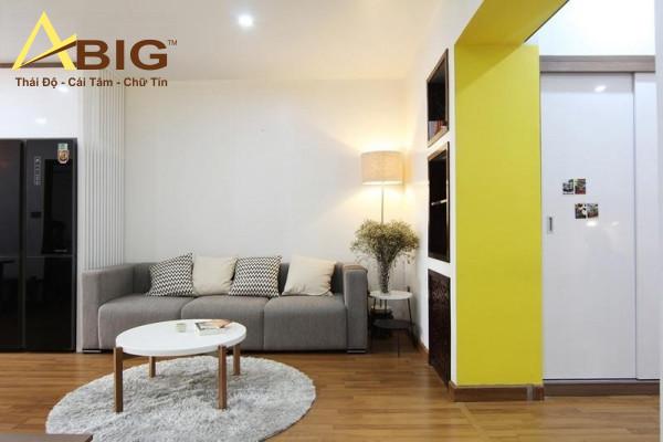 thiết kế nội thất căn hộ 2 phòng giá rẻ