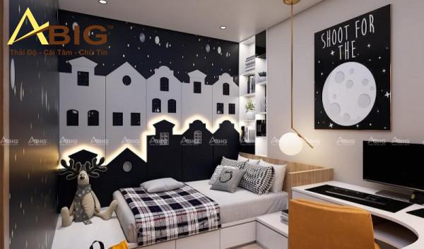 Thiết kế nội thất căn hộ 3 phòng ngủ cho phòng của bé trai