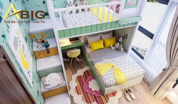 Màu sắc dễ thương chính là điểm nhấn hoàn hảo cho căn phòng