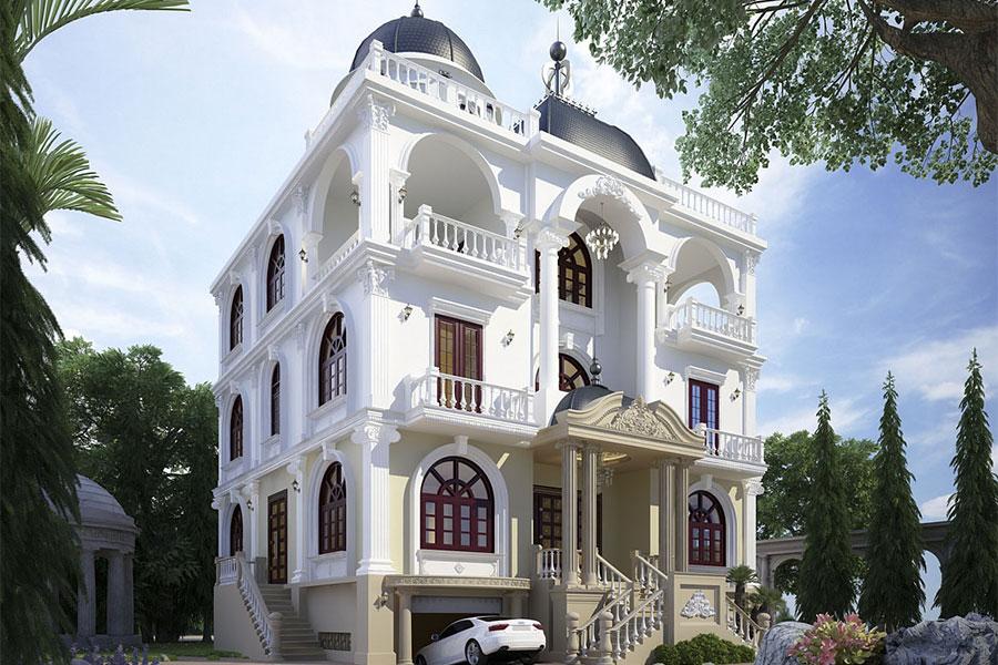 Mái vòm là biểu tượng của lối kiến trúc cổ điển, sang trọng, thể hiện tính tôn nghiêm, bề thế của gia chủ.