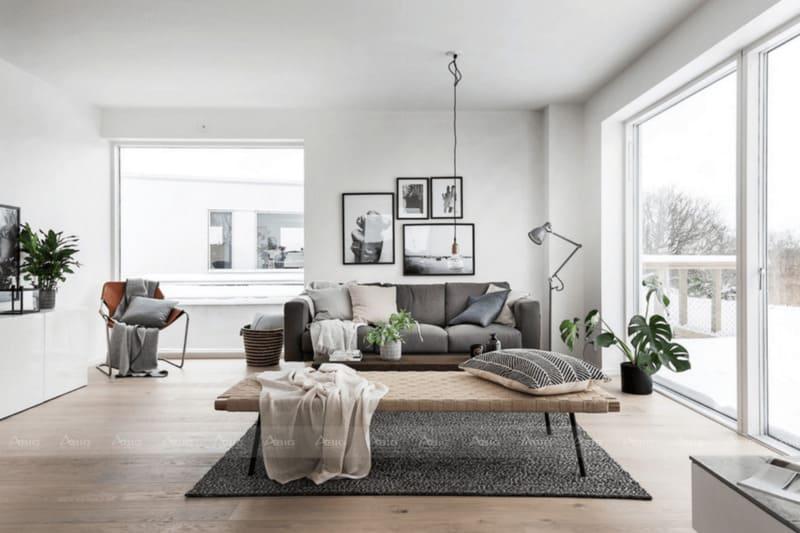 chi tiết nội thất đơn giản không cầu kì mang lại nét đặc trưng cho phong cách thiết kế này