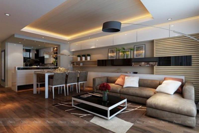 không gian bên trong căn hộ được phân chia bố cục rõ ràng