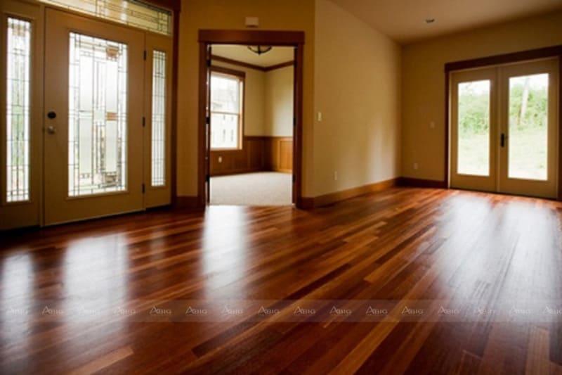 dùng chất liệu gỗ tự nhiên lát nền là lựa chọn thể hiến sự đẳng cấp của gia chủ