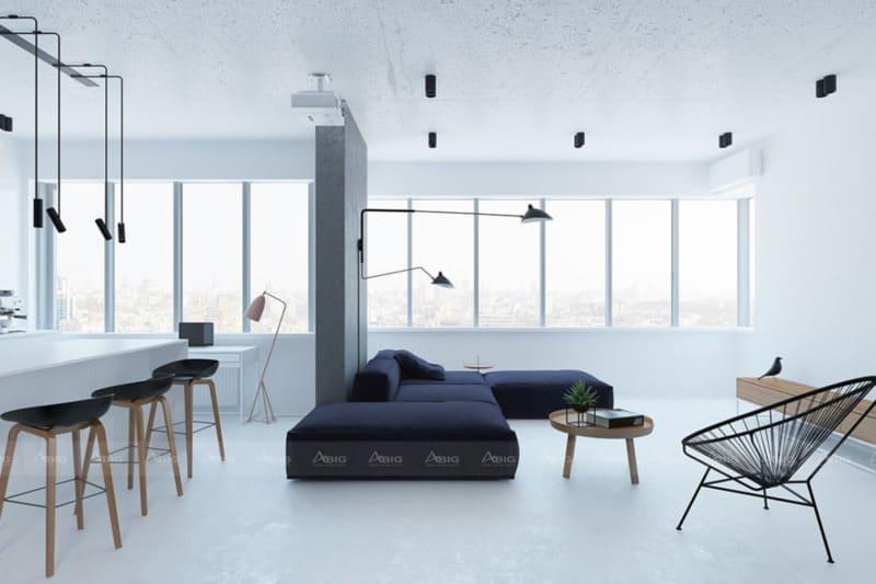 phong cách thiết kế nột thất căn hộ chung cư tối giản minimalism