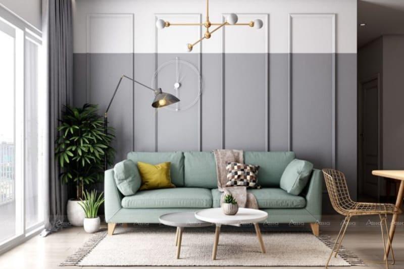 phong cách thiết kế nội thất scandinavian cho phòng khách căn hô chung cư