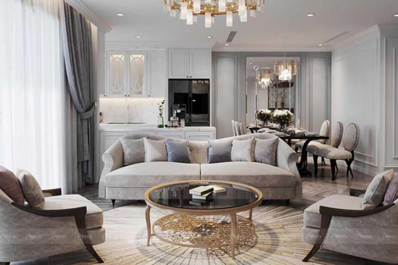 thiết kế nội thất căn hộ chung cư theo phong cách cổ điển