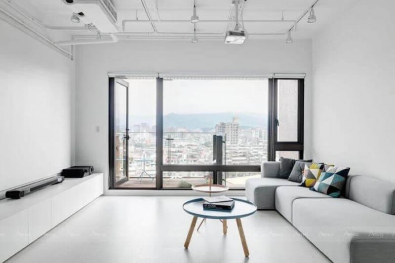 tông màu trắng chủ đạo với nội thất bố trí gọn gàng tinh tế