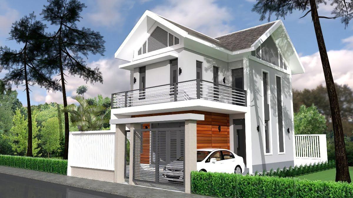 Lối kiến trúc tinh tế cùng không gian hoàn hảo cho kiểu nhà 2 tầng hình chữ L