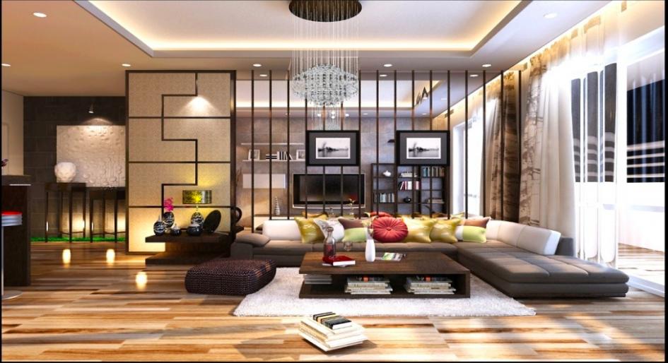 Phòng khách với thiết kế hiện