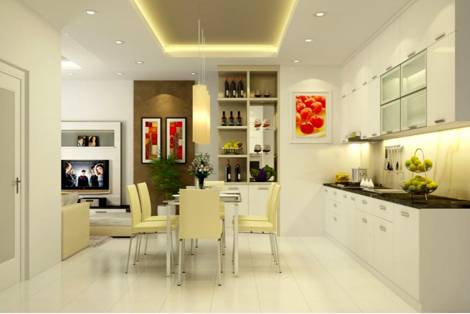 Phòng bếp với thiết kế hiện đại