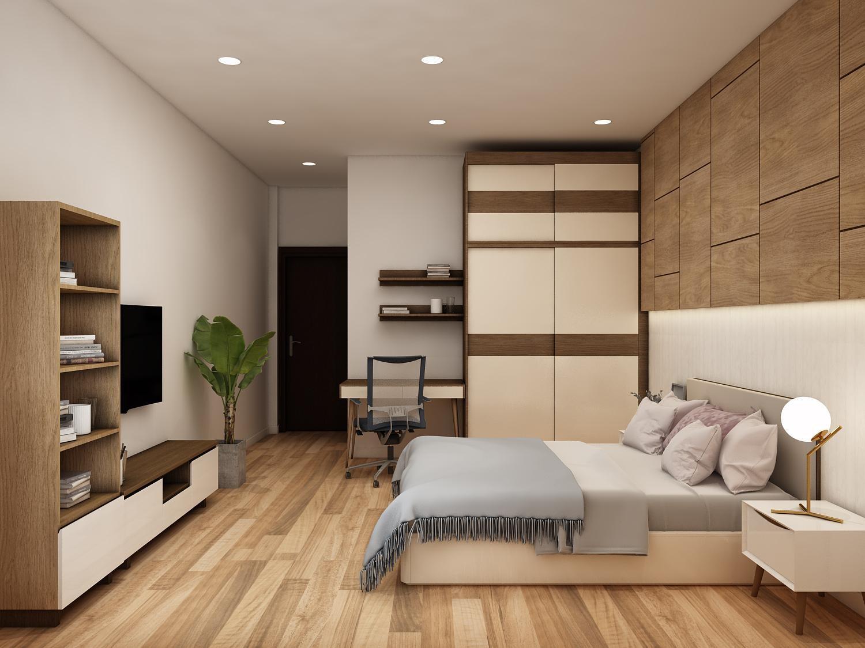 Phòng ngủ tối giản nhưng không đơn điệu