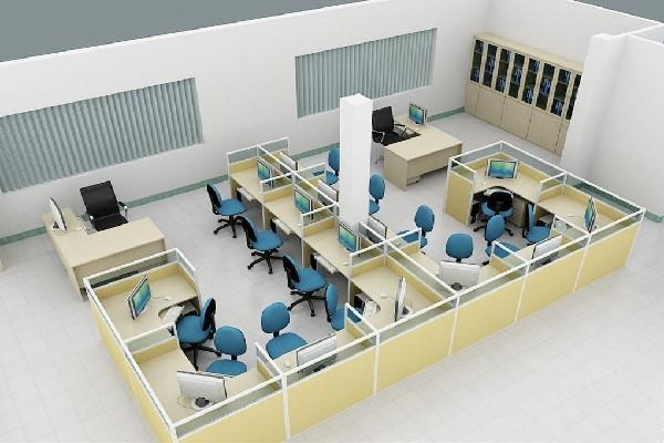 Thiết kế theo kiểu nhiều vách ngăn với sức chứa lượng lớn nhân viên