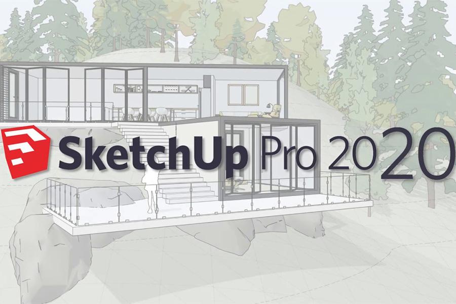 Phần mềm Sketchup Pro 2020.