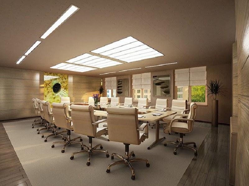 Sử dụng màu sắc đồng bộ giúp văn phòng đẹp và hài hòa