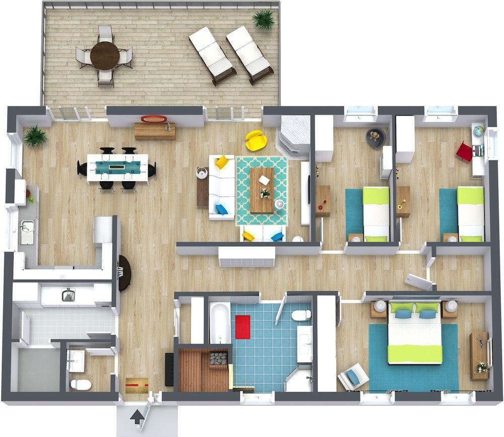 Căn hộ chung cư 3 phòng ngủ mẫu thiết kế 3