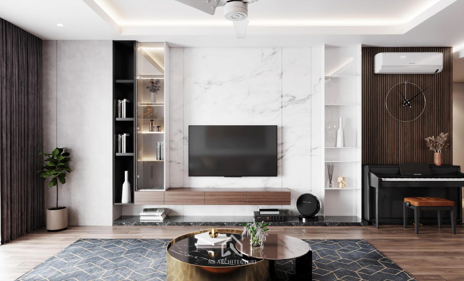 Thiết kế hiện đại cho chung cư