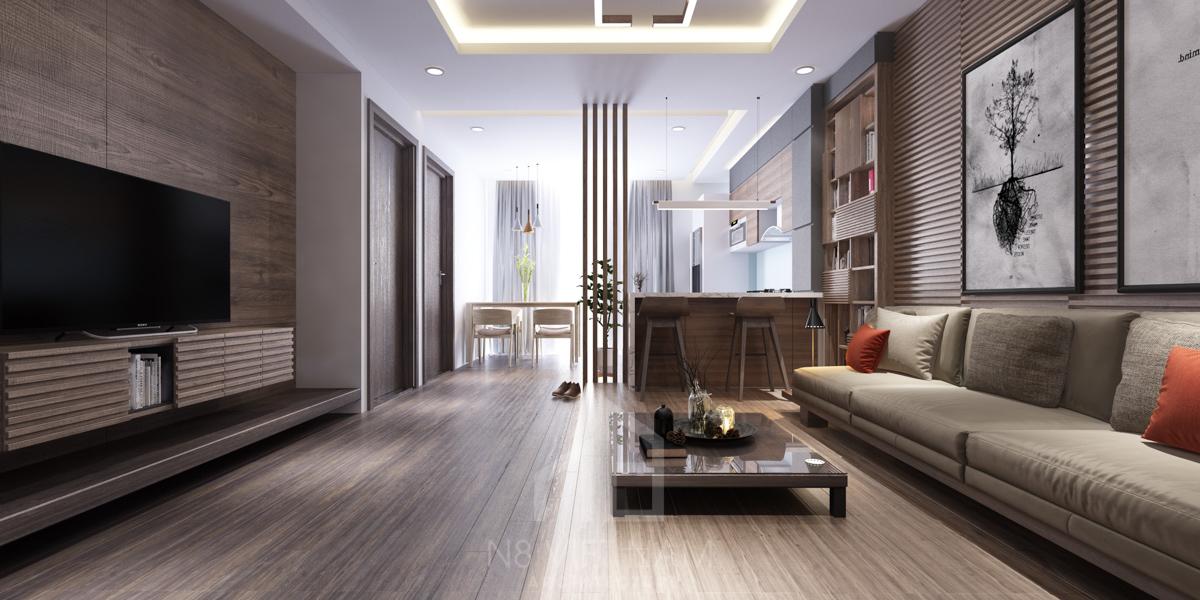 Top 4 mẫu thiết kế nội thất chung cư 80m2 đẹp nhất