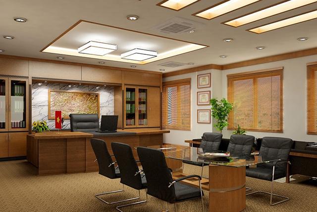 Phòng sếp và phòng họp được tích hợp chung