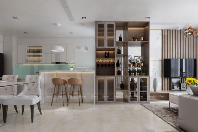 không gian sinh hoạt chung được kiến trúc sư thiết kế tổng hòa giữa phong cách cổ điển và hiện đại