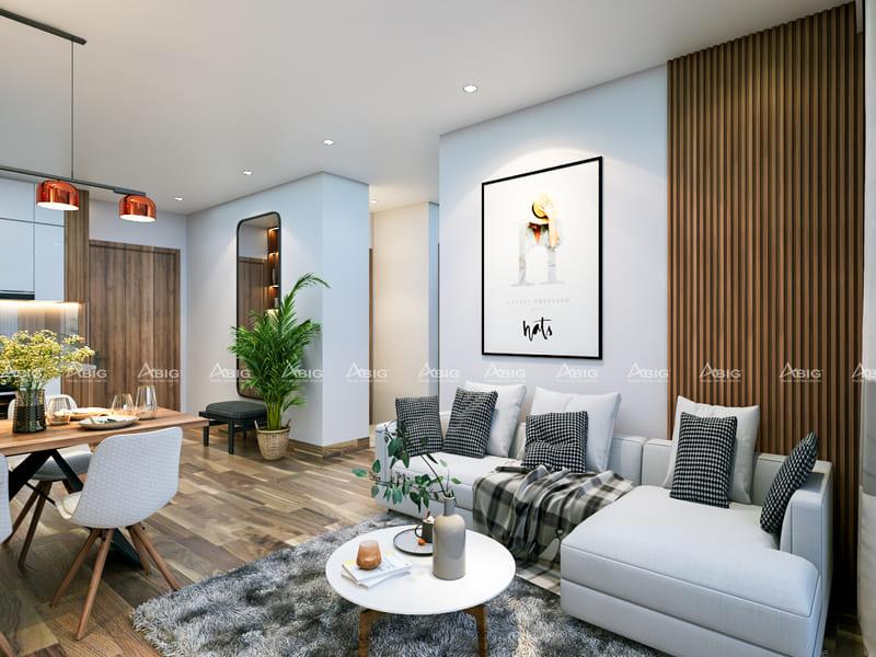 thiết kế nội thất căn hộ chung cư 3 phòng ngủ phong cách hiện đại