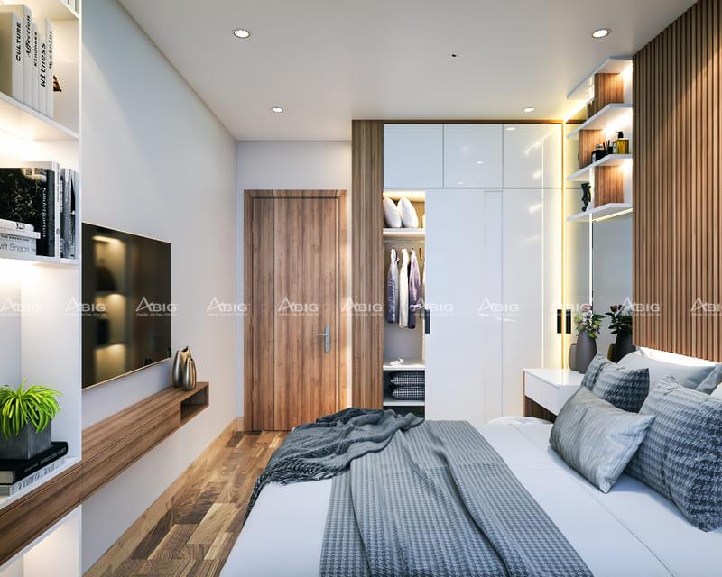 phòng ngủ phụ được thiết kế đầy đủ tiện nghi và hiện đại