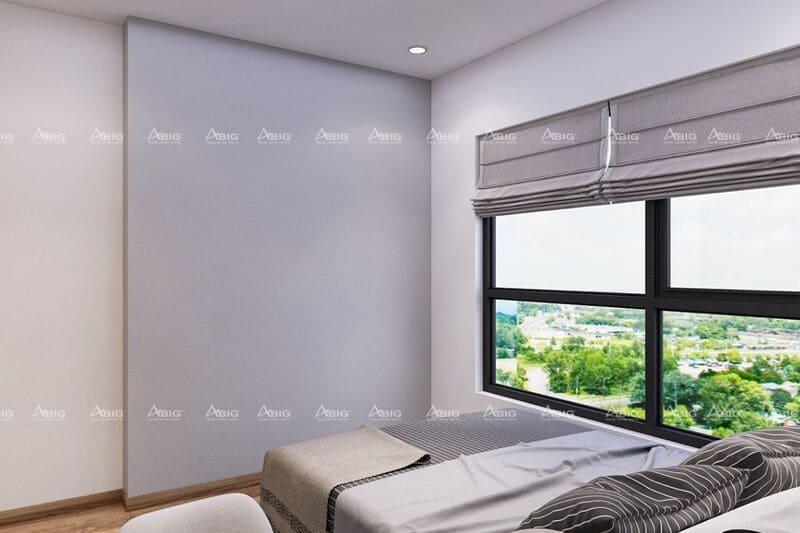 phòng ngủ phụ với thiết kế nội thất không cầu kì nhưng vẫn đảm bảo đầy đủ công năng