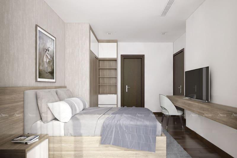 phòng ngủ phụ với tone màu trầm ấm
