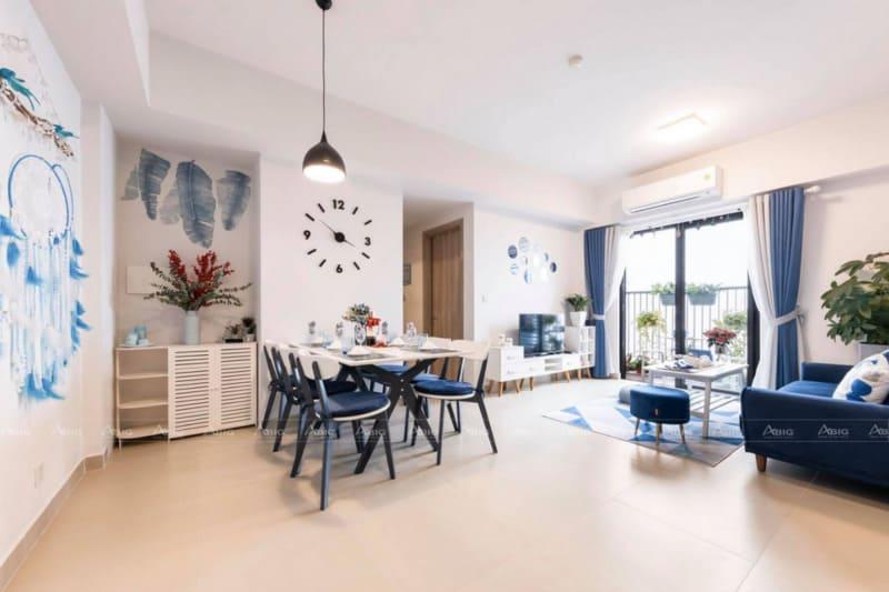 thiết kế không gian phòng khách và phòng ăn tối ưu không gian