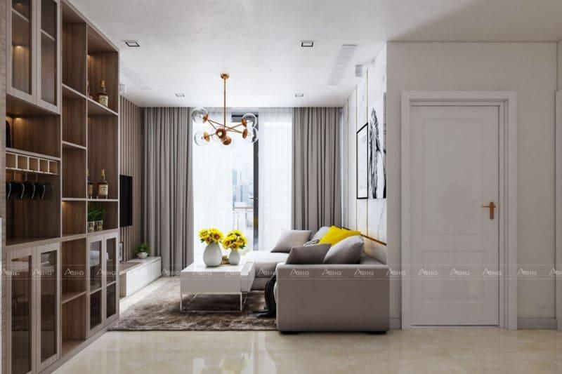thiết kế nội thất căn hộ chung cư 3 phòng ngủ 120m2