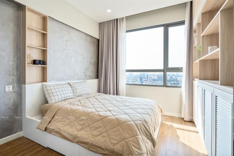 thiết kế nội thất phòng ngủ rất sang trọng và hiện đại