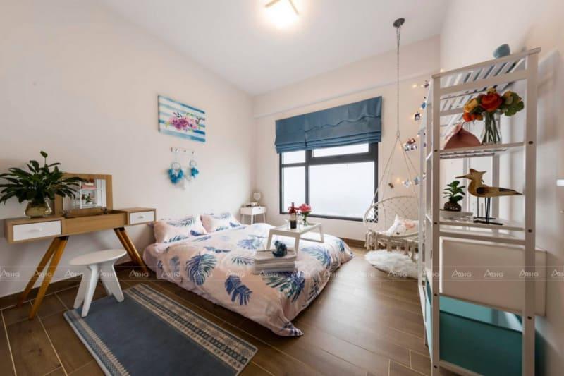 phòng ngủ chính được bố trí nội thất hài hòa thông minh