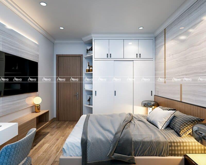 phòng ngủ phụ được thiết kế đầy đủ tiện nghi và thông minh