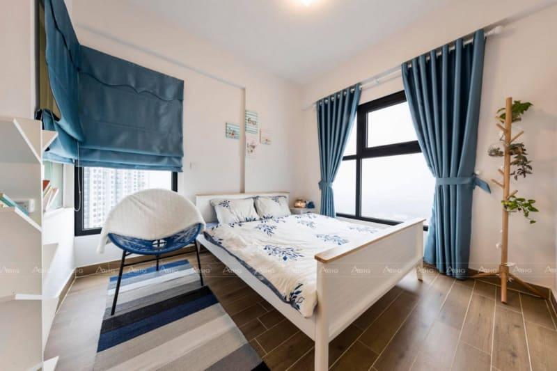 thiết kế phòng ngủ thông minh với nội thất đơn giản nhẹ nhàng