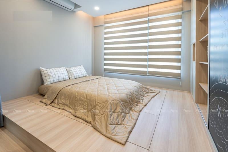 thiết kế nội thất phòng ngủ phụ thứ hai với nội thất thông minh ngăn nắp