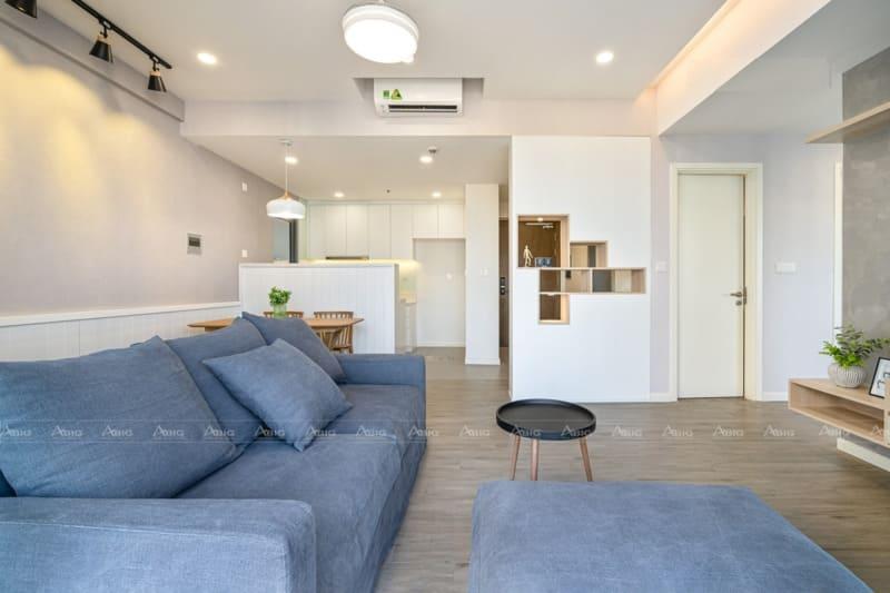 toàn bộ không gian căn hộ được bao phủ bởi ánh sáng tự nhiên