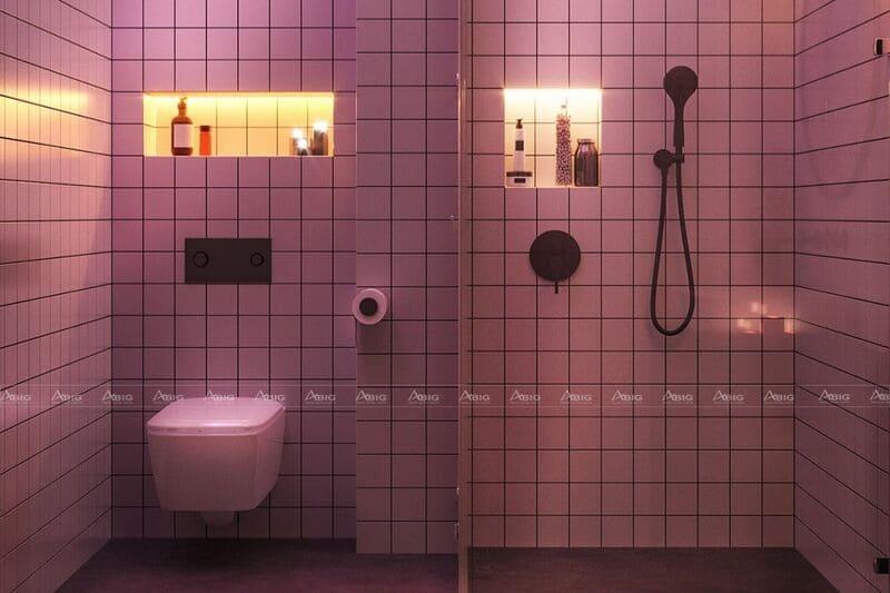 ánh đèn led giúp phòng vệ sinh trở nên ấm cúng hơn