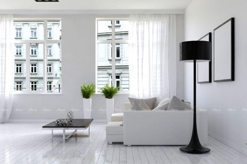lựa chọn tông màu sáng sẽ giúp căn phòng trở nên rộng hơn