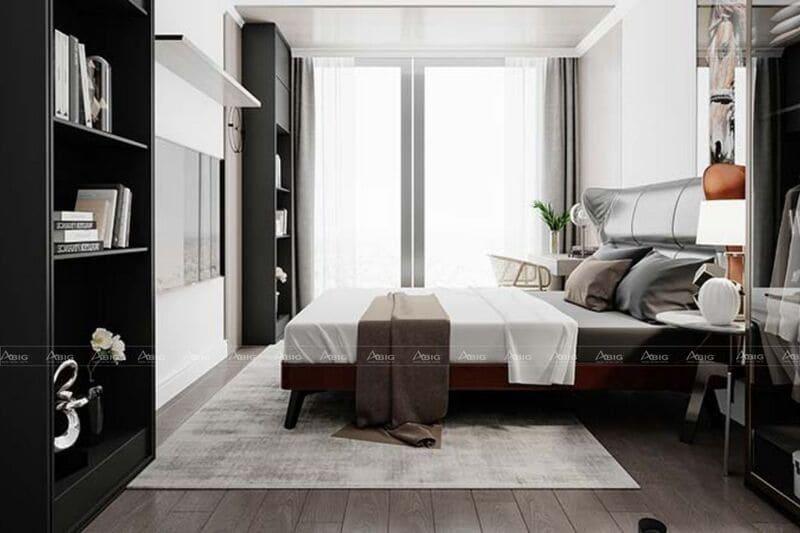 sắp xếp nội thất hợp lý giúp tiết kiệm không gian phòng ngủ