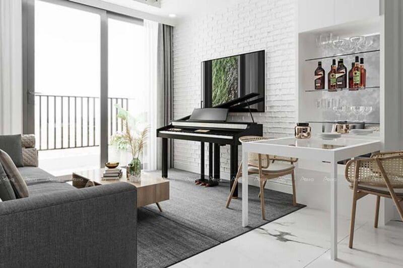 thiết kế cửa sổ lớn vừa lấy ánh sáng vừa giúp không gian phòng khách trở nên rộng rãi hơn