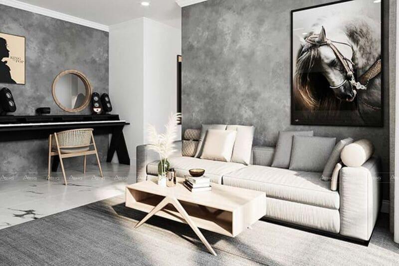 thiết kế nội thất nhà chung cư 45m2 2 phòng ngủ