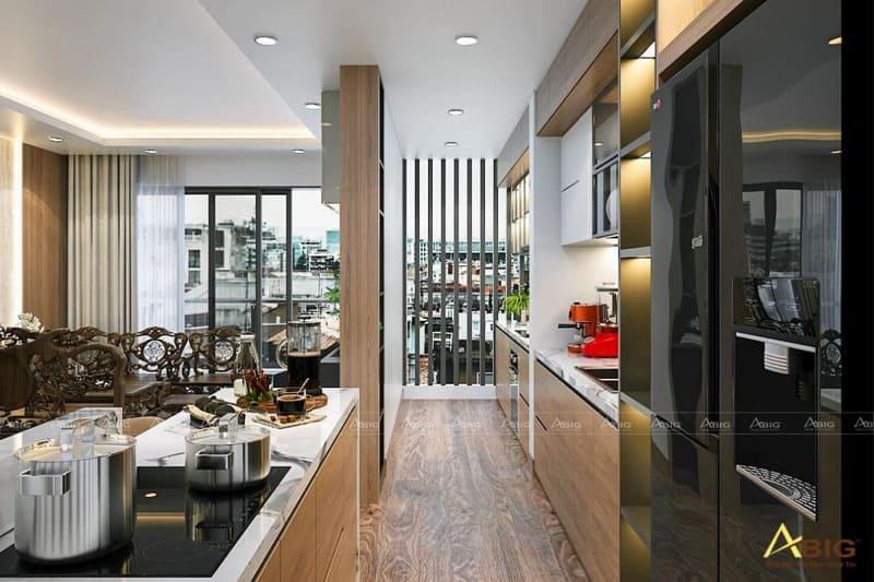 hướng dẫn trang trí nội thất cho phòng bếp căn hộ 2 phòng ngủ