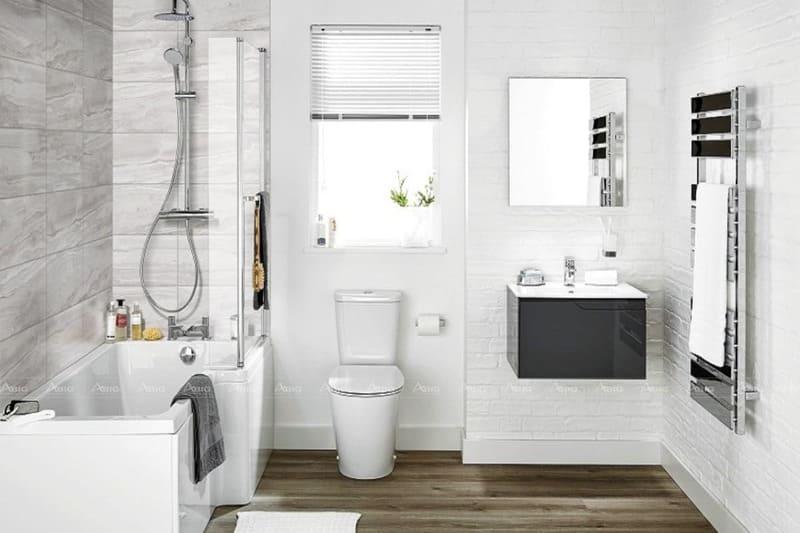 hướng dẫn cách bố trí và lựa chọn nội thất nhà vệ sinh cho căn hộ chung cư 2 phòng ngủ
