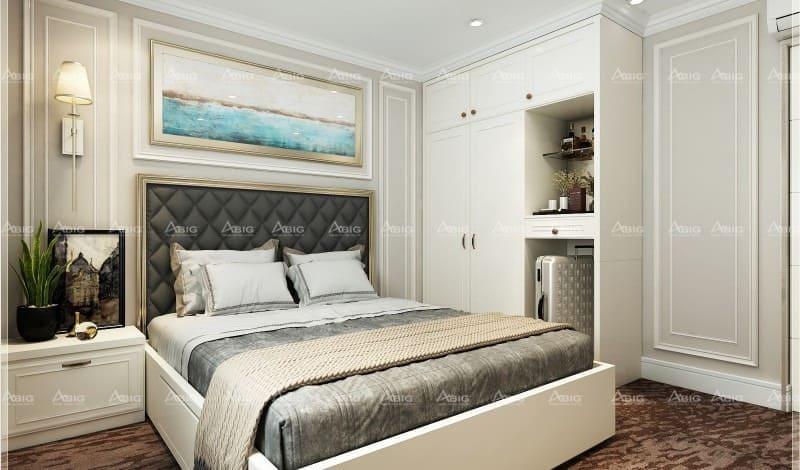 không gian phòng ngủ được thiết kế chỉn chu tỉ mĩ