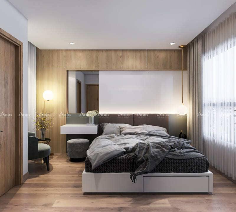 không gian phòng ngủ phụ tiện nghi thoáng đãng