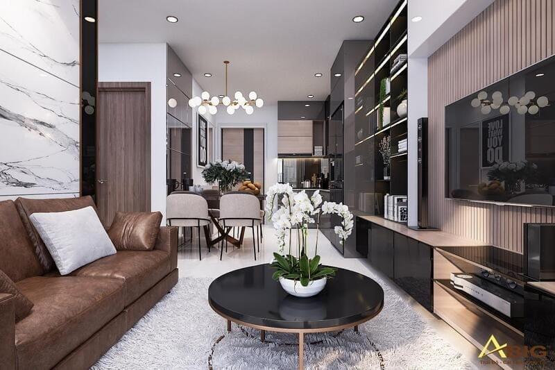 mẫu thiết kế nội thất căn hộ chung cư 2 phòng ngủ sunrise city view