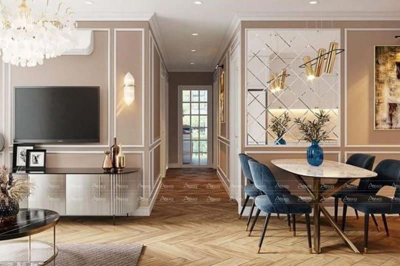 mẫu thiết kế nội thất căn hộ chung cư 2 phòng ngủ orchard park view
