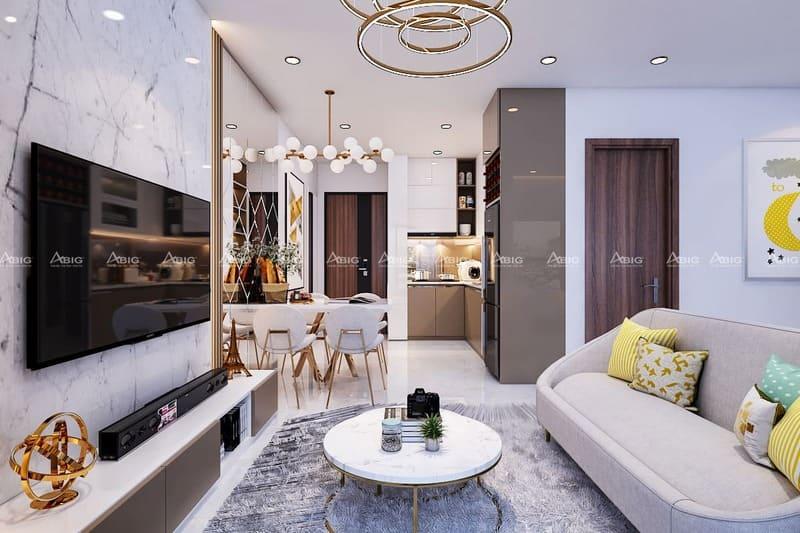 mẫu thiết kế nội thất căn hộ chung cư 2 phòng ngủ vinhomes