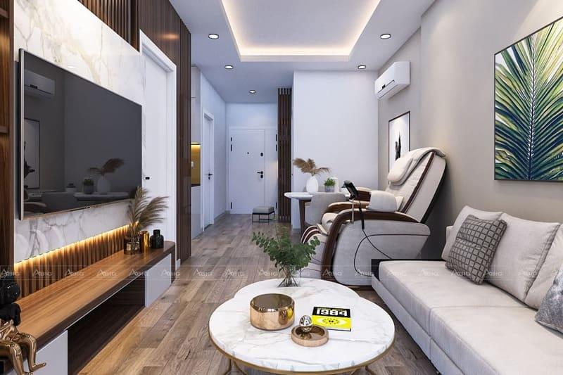 mẫu thiết kế nội thất căn hộ chung cư 2 phòng ngủ vista verde
